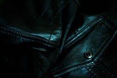 απομονωμένο ανασκόπηση λευκό δέρματος σακακιών Στοκ φωτογραφία με δικαίωμα ελεύθερης χρήσης