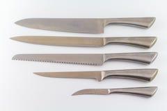 απομονωμένο ανασκόπηση κουζινών λευκό στούντιο σκιών αντικειμένου μαχαιριών ανοιχτό Στοκ φωτογραφία με δικαίωμα ελεύθερης χρήσης