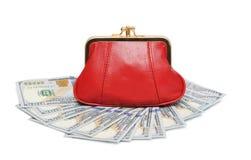 απομονωμένο ανασκόπηση λευκό πορτοφολιών χρημάτων Στοκ Εικόνες