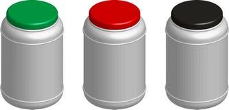 απομονωμένο ανασκόπηση pillboxes &l Διανυσματική απεικόνιση