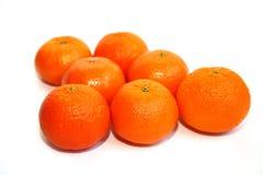 απομονωμένο ανασκόπηση tangerines & Στοκ Εικόνες
