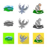 Απομονωμένο αντικείμενο και σύμβολο ταξιδιού Σύνολο και παραδοσιακή διανυσματική απεικόνιση αποθεμάτων απεικόνιση αποθεμάτων
