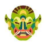 Απομονωμένο αντικείμενο της μάσκας και του ινδονησιακού εικονιδίου Σύνολο μάσκας και εθνικού συμβόλου αποθεμάτων για τον Ιστό ελεύθερη απεικόνιση δικαιώματος