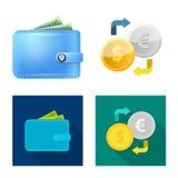 Απομονωμένο αντικείμενο του λογότυπου τραπεζών και χρημάτων Συλλογή της διανυσματικής απεικόνισης αποθεμάτων τραπεζών και λογαρια απεικόνιση αποθεμάτων