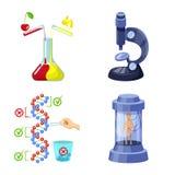 Απομονωμένο αντικείμενο τροποποιημένος και γενετικά σύμβολο Σύνολο τροποποιημένου και συμβόλου αποθεμάτων επιστήμης για τον Ιστό ελεύθερη απεικόνιση δικαιώματος
