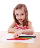 απομονωμένο απεικόνιση διανυσματικό λευκό κοριτσιών σχεδίων Στοκ Φωτογραφίες