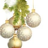 απομονωμένο απεικόνιση διανυσματικό λευκό Χριστουγέννων μπιχλιμπιδιών Στοκ εικόνες με δικαίωμα ελεύθερης χρήσης
