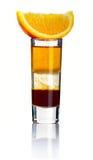 απομονωμένο απότομα κοκτέιλ τεμαχισμένο λευκό αλκοόλης Στοκ εικόνα με δικαίωμα ελεύθερης χρήσης