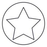Απομονωμένο αστέρι μέσα στο σχέδιο κύκλων Στοκ Φωτογραφίες