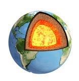 απομονωμένο γη μοντέλο πέρα από το λευκό δομών απεικόνιση αποθεμάτων