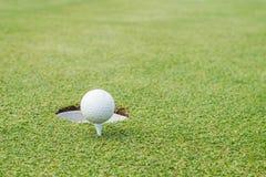 απομονωμένο γράμμα Τ μονοπατιών γκολφ ψαλιδίσματος σφαιρών εικόνα Στοκ φωτογραφία με δικαίωμα ελεύθερης χρήσης