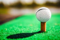 απομονωμένο γράμμα Τ μονοπατιών γκολφ ψαλιδίσματος σφαιρών εικόνα Στοκ εικόνα με δικαίωμα ελεύθερης χρήσης