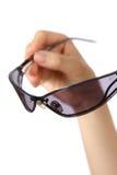 απομονωμένο γυαλιά λευκό ήλιων Στοκ φωτογραφία με δικαίωμα ελεύθερης χρήσης