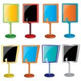 απομονωμένο διάνυσμα στοιχείων χρώματος διαφήμισης ελεύθερη απεικόνιση δικαιώματος