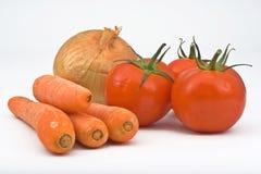 απομονωμένο διάφορο λαχανικό Στοκ Εικόνα
