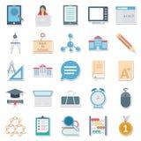 Απομονωμένο διανυσματικό καλύτερο Editable εικονιδίων εκπαίδευσης το χρώμα για τα προγράμματα εκπαίδευσης Στοκ Φωτογραφίες
