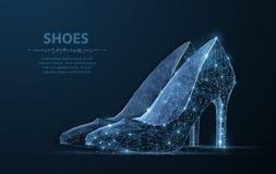 Απομονωμένο διανυσματικό παπούτσι γυναικών Κομψότητα, γοητεία, σύμβολο ομορφιάς απεικόνιση αποθεμάτων