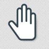 Απομονωμένο εικονίδιο δρομέων χεριών επίσης corel σύρετε το διάνυσμα απεικόνισης Στοκ φωτογραφία με δικαίωμα ελεύθερης χρήσης