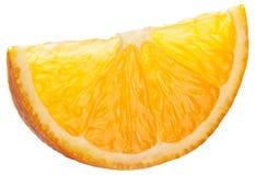 απομονωμένο εικόνα πορτοκάλι ανασκόπησης πέρα από το λευκό φετών Στοκ Εικόνα