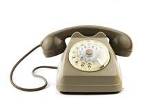 Απομονωμένο εκλεκτής ποιότητας ιταλικό τηλέφωνο στοκ εικόνα