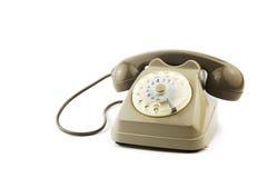 Απομονωμένο εκλεκτής ποιότητας ιταλικό τηλέφωνο στοκ εικόνες