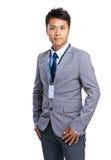 απομονωμένο επιχείρηση άτομο ανασκόπησης πέρα από το λευκό Στοκ εικόνα με δικαίωμα ελεύθερης χρήσης