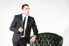 απομονωμένο επιχείρηση άτομο ανασκόπησης πέρα από το λευκό Στοκ Εικόνες