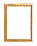 απομονωμένο λευκό εικόνων πλαισίων χρυσός Στοκ φωτογραφία με δικαίωμα ελεύθερης χρήσης