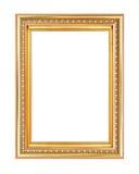 απομονωμένο λευκό εικόνων πλαισίων χρυσός Στοκ Φωτογραφία