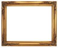 απομονωμένο λευκό εικόνων πλαισίων χρυσός στοκ εικόνες