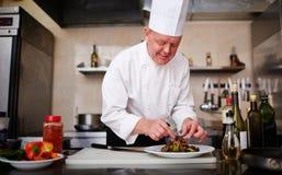 απομονωμένο λευκό εστιατορίων ανασκόπησης μάγειρας Στοκ φωτογραφία με δικαίωμα ελεύθερης χρήσης