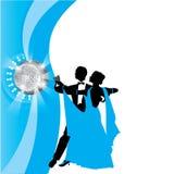 απομονωμένο λευκό ζευγών χορός Στοκ εικόνα με δικαίωμα ελεύθερης χρήσης