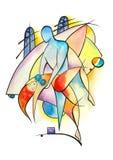 απομονωμένο λευκό ζευγών χορός Ελεύθερη απεικόνιση δικαιώματος
