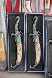απομονωμένο λευκό διακοσμήσεων μαχαιριών ασιατικό Στοκ Φωτογραφία
