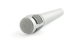απομονωμένο λευκό μικροφώνων Στοκ φωτογραφία με δικαίωμα ελεύθερης χρήσης