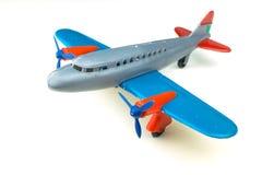 απομονωμένο λευκό παιχνιδιών αεροπλάνων Στοκ εικόνα με δικαίωμα ελεύθερης χρήσης