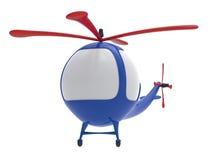 απομονωμένο λευκό παιχνιδιών κινούμενων σχεδίων ανασκόπησης ελικόπτερο Στοκ φωτογραφία με δικαίωμα ελεύθερης χρήσης