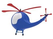 απομονωμένο λευκό παιχνιδιών κινούμενων σχεδίων ανασκόπησης ελικόπτερο Στοκ Φωτογραφία