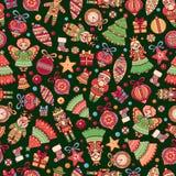 απομονωμένο λευκό παιχνιδιών σφαιρών Χριστουγέννων ανασκόπησης γυαλί πρότυπο άνευ ραφής background colors holiday red yellow Το κ Στοκ Εικόνα