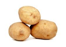 απομονωμένο λευκό πατατών στοκ φωτογραφία με δικαίωμα ελεύθερης χρήσης