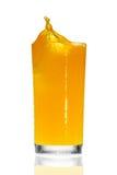 απομονωμένο λευκό παφλασμών χυμού πορτοκαλί Στοκ φωτογραφίες με δικαίωμα ελεύθερης χρήσης