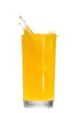 απομονωμένο λευκό παφλασμών χυμού πορτοκαλί Στοκ εικόνες με δικαίωμα ελεύθερης χρήσης