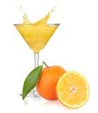 απομονωμένο λευκό παφλασμών χυμού πορτοκαλί Στοκ φωτογραφία με δικαίωμα ελεύθερης χρήσης
