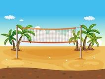 απομονωμένο λευκό πετοσφαίρισης ανασκόπησης παραλία Στοκ εικόνες με δικαίωμα ελεύθερης χρήσης