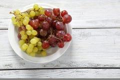 απομονωμένο λευκό πιάτων ανασκόπησης σταφύλια στοκ εικόνα με δικαίωμα ελεύθερης χρήσης