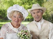 απομονωμένο λευκό πορτρέτου ζευγών ανασκόπησης ηλικιωμένοι Στοκ Εικόνα