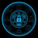 απομονωμένο λευκό τεχνολογικής ασφαλείας αντιπυρικών ζωνών έννοιας πληροφορίες Στοκ Εικόνες