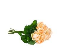 απομονωμένο λευκό τριαντάφυλλων ανασκόπησης ανθοδέσμη στοκ φωτογραφία