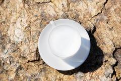 απομονωμένο λευκό τσαγιού ανασκόπησης φλυτζάνι στοκ φωτογραφία με δικαίωμα ελεύθερης χρήσης