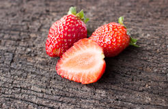 απομονωμένο λευκό φραουλών ανασκόπησης καρπός Στοκ Εικόνες
